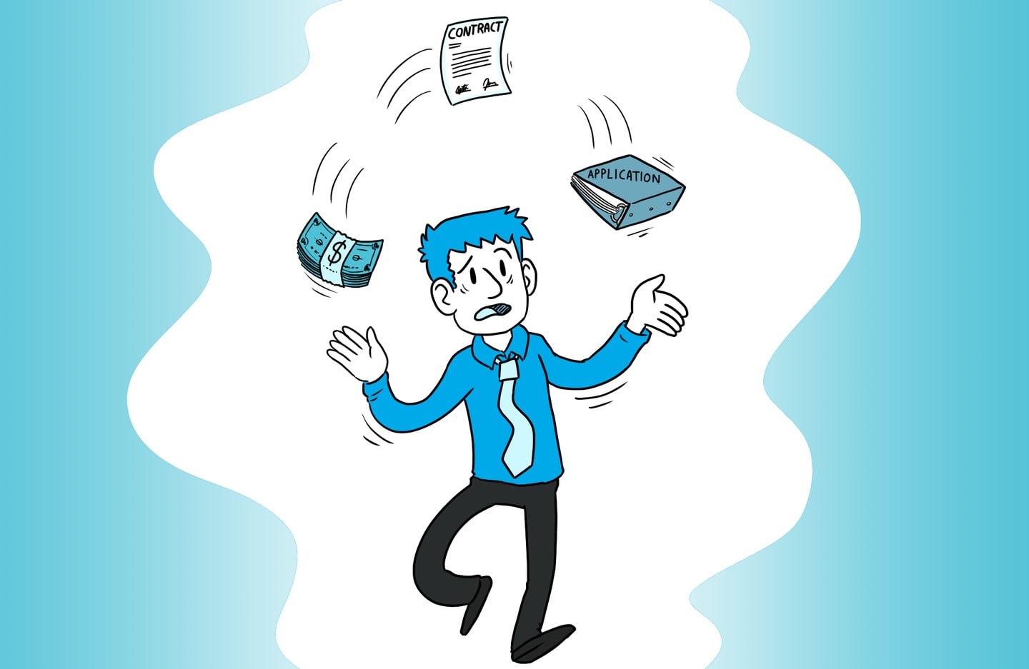 Buyer juggling the loan application, building application and contract after reaching an accepted offer